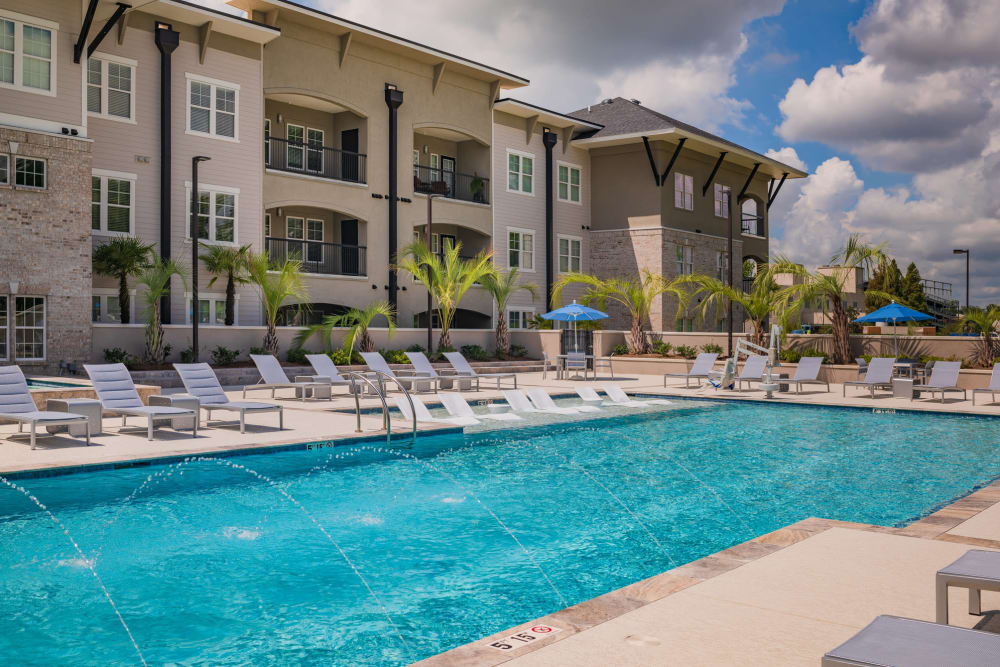 Beautiful swimming pool at Park Rowe Village at Perkins Rowe in Baton Rouge, Louisiana