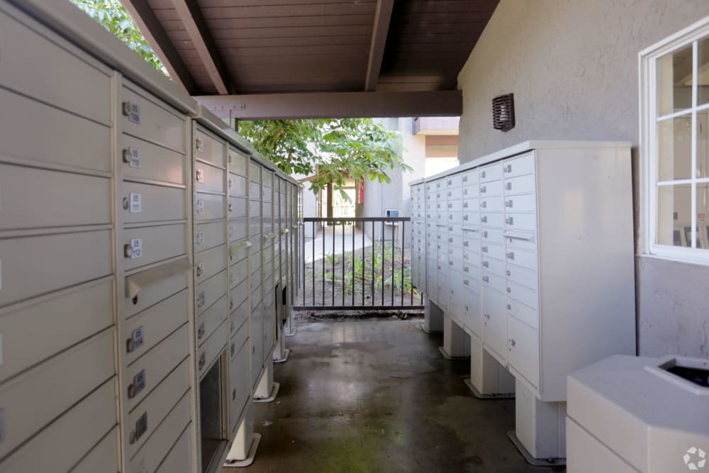Covered mailboxes at Olive Ridge in Pomona, California
