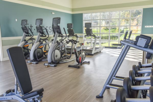 Fitness center at Springs at Oswego in Oswego, Illinois