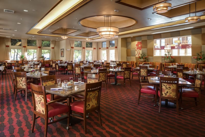 Banquet hall at McDowell Village offers a dining area in Scottsdale, Arizona