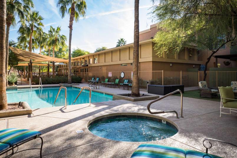 Pool view at McDowell Village in Scottsdale, Arizona