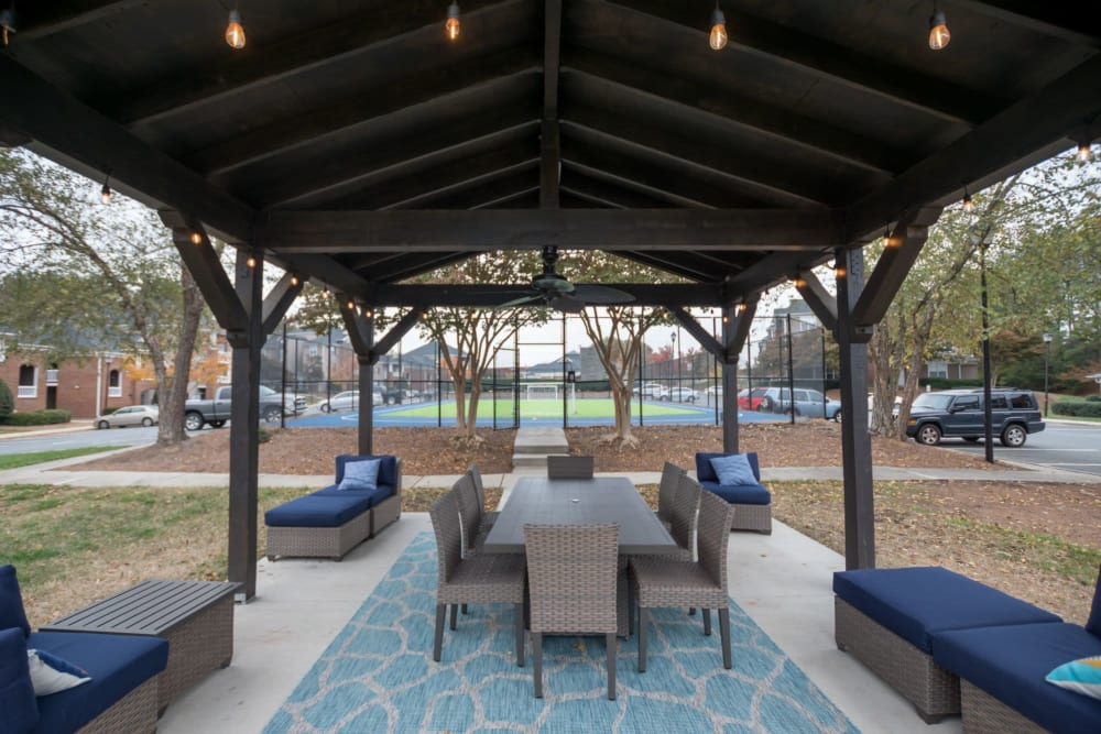 Outdoor community gazebo at Palmetto Place in Fort Mill, South Carolina
