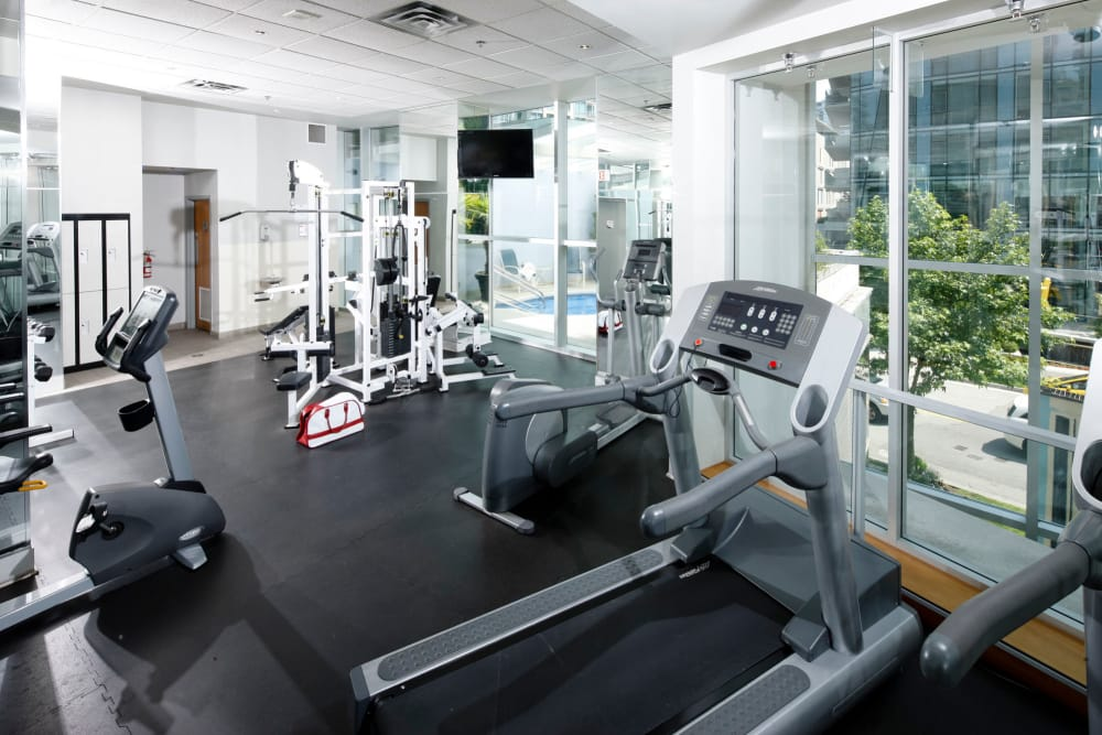 Our apartments in Vancouver, British Columbia showcase a modern fitness center