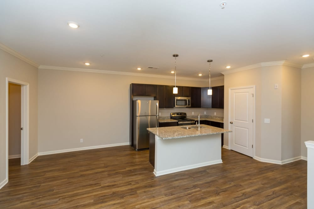 Spacious kitchen and dining area at Oakwood Estates in Hixson, Tennessee