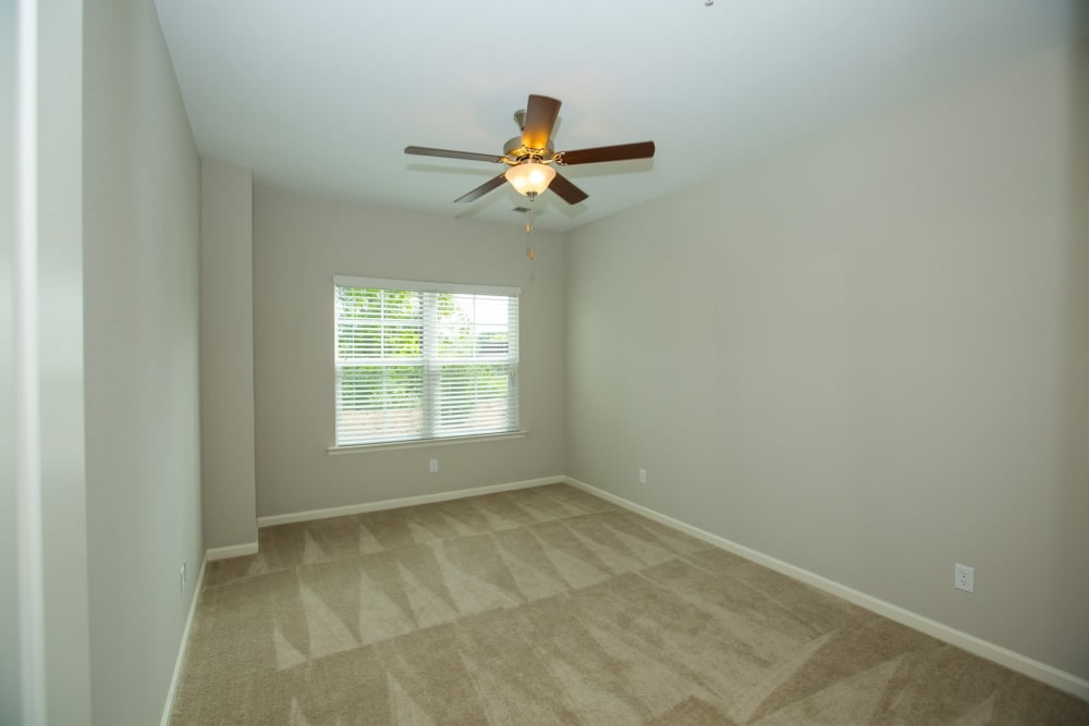 Bedroom with ceiling fan at Callio Properties in Chattanooga, Tennessee