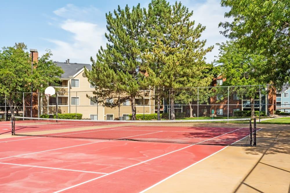 Onsite tennis court at Royal Ridge Apartments in Midvale, Utah