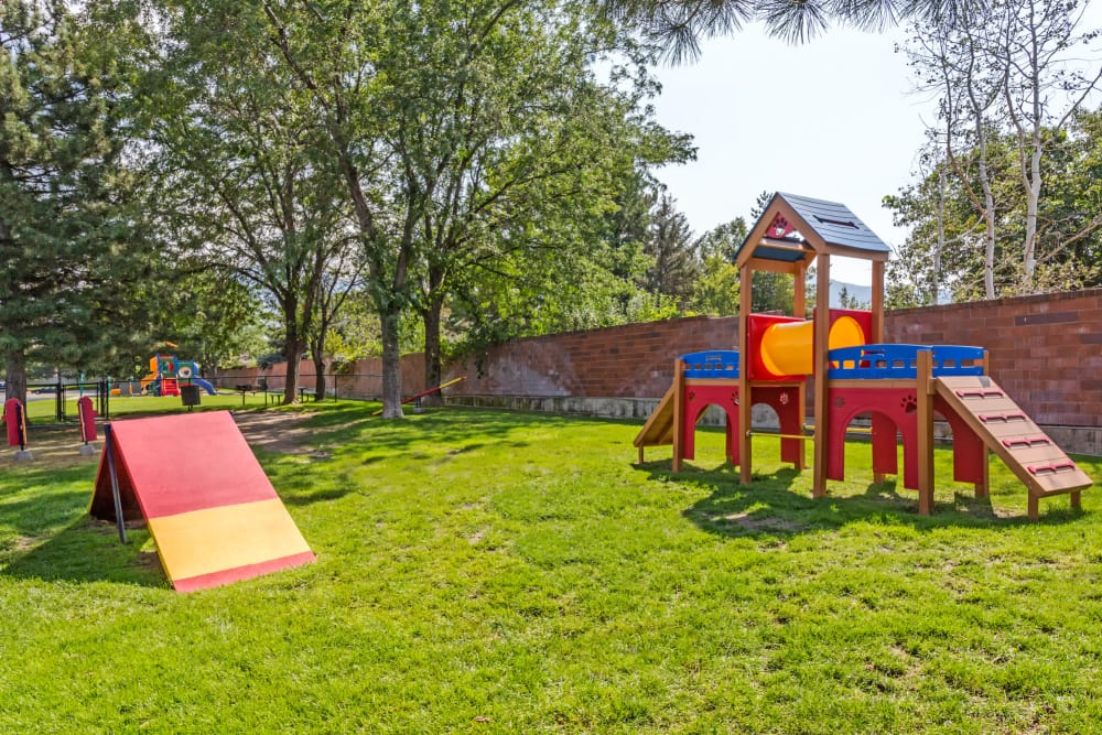Have fun with your furry friend in the dog park at Royal Ridge Apartments in Midvale, Utah