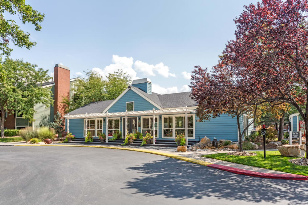 The leasing office at Royal Ridge Apartments in Midvale, Utah