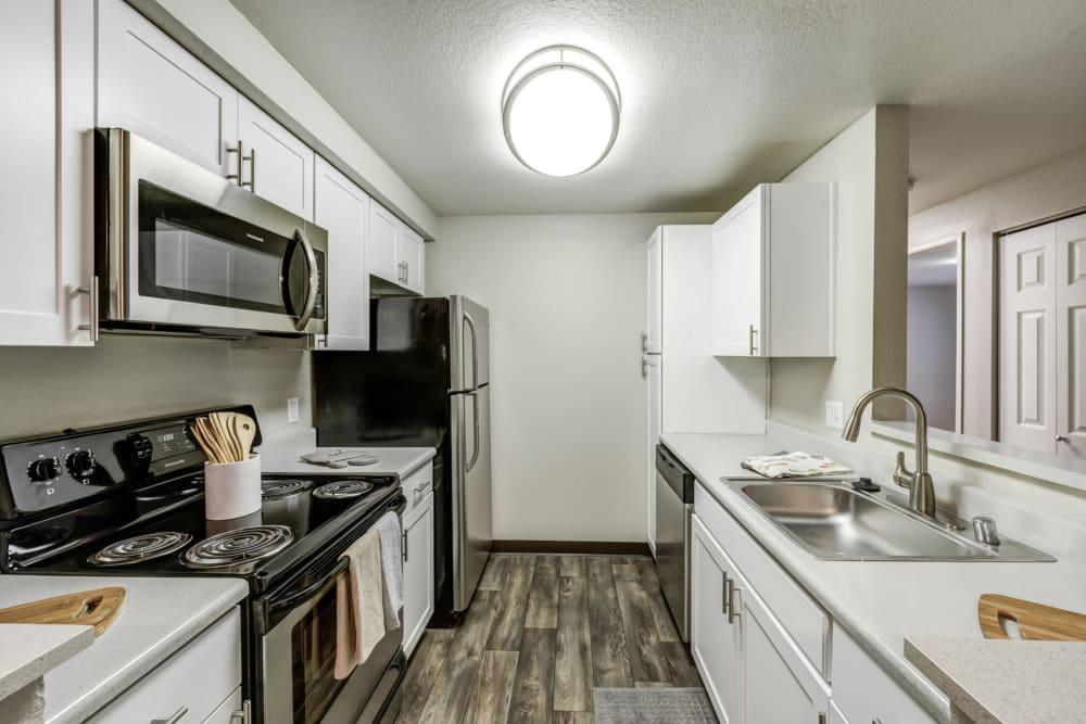 Kitchen at Olin Fields Apartments in Everett