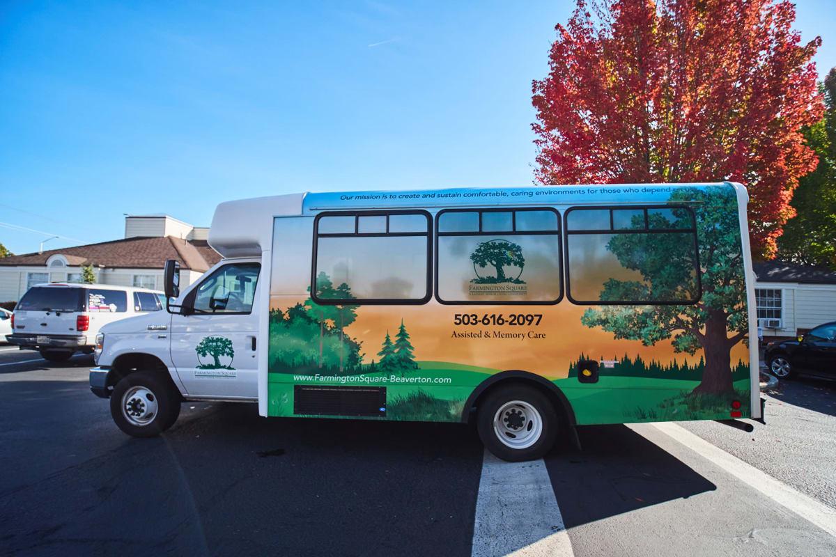 Transportation services truck at Farmington Square Beaverton in Beaverton, Oregon