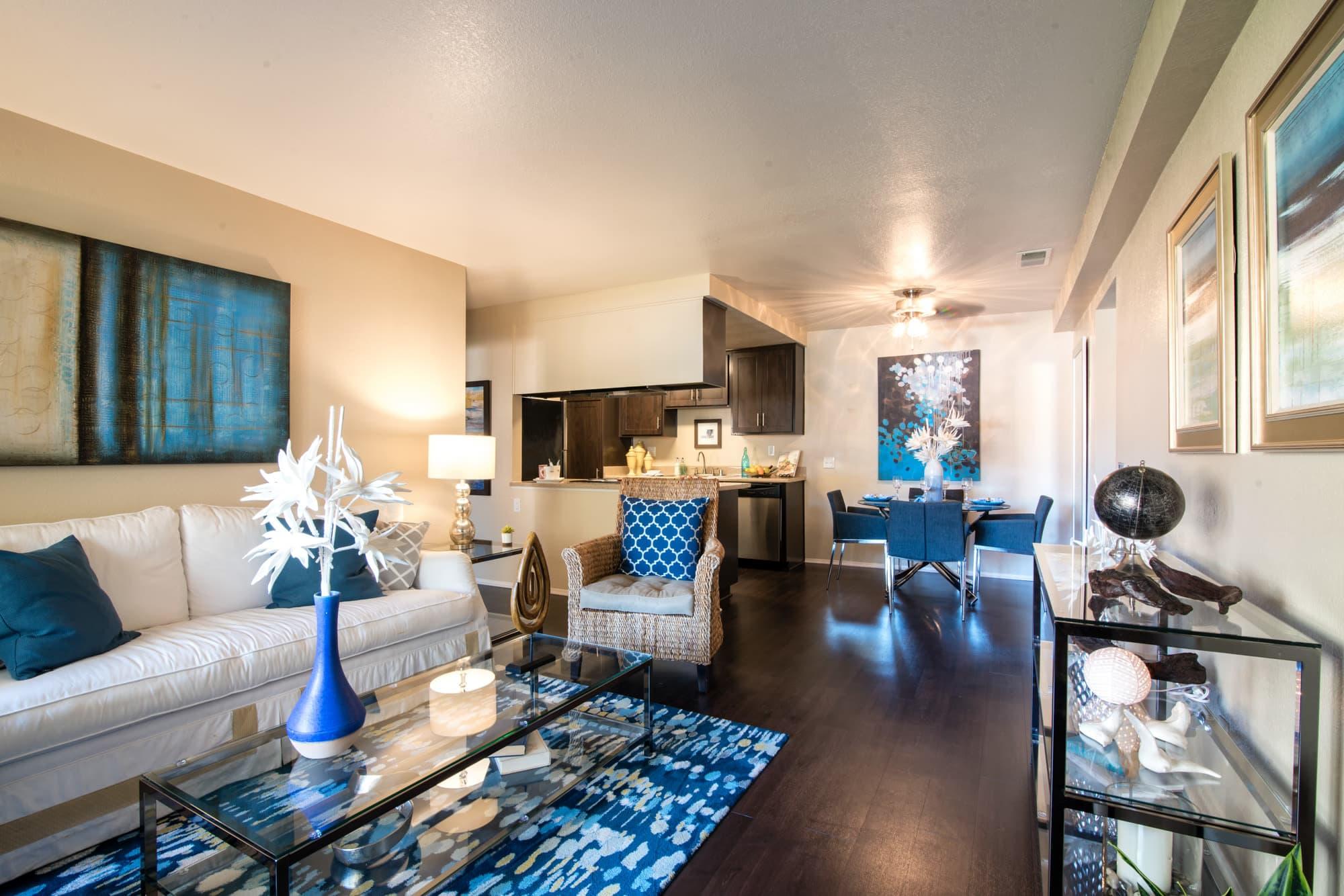 Living Room at Terra Nova Villas in Chula Vista, CA