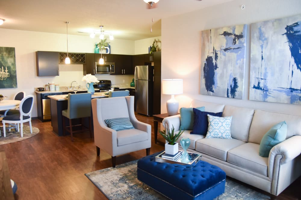 Living room layout at Springs at Oswego in Oswego, Illinois