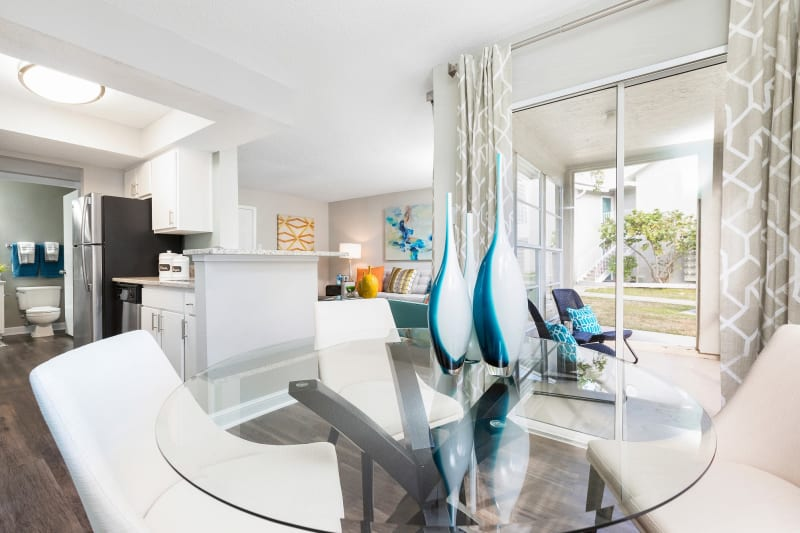 Breakfast nook in open concept layout at Lago Paradiso at the Hammocks in Miami, Florida
