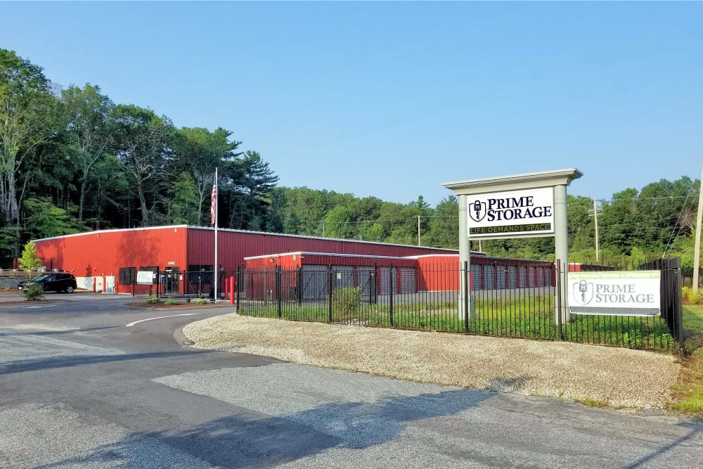 Exterior view of Prime Storage in Whitinsville, Massachusetts