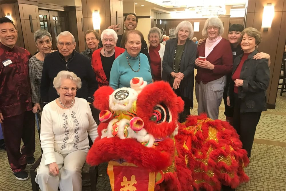 Celebrating Chinese New Year at Merrill Gardens at Lafayette in Lafayette, California.