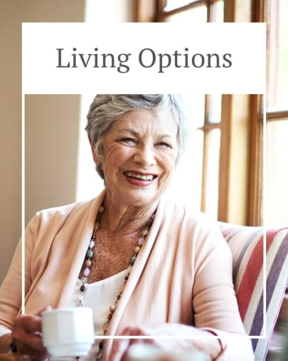 Living options at The Village at Valley Creek in Denton, Texas