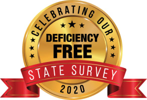 Deficiency free state survey badge for Garden Place Millstadt in Millstadt, Illinois