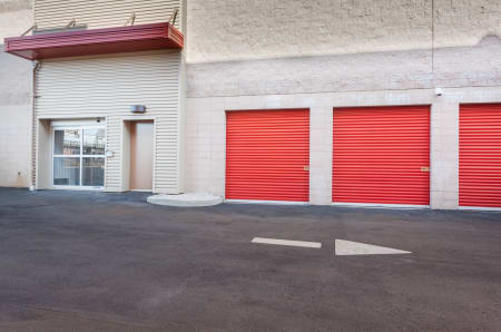 Wide driveway at StorQuest Self Storage in North Miami Beach, Florida