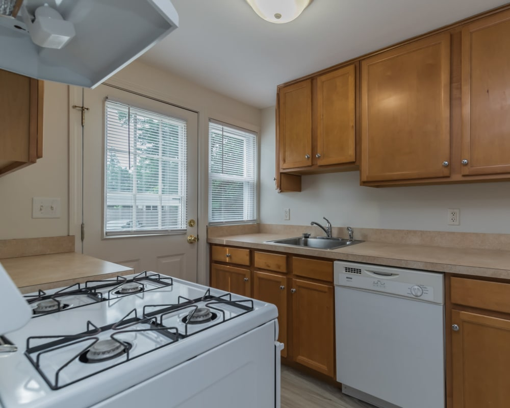 kitchen at West Gate Townhomes in New Haven, Connecticut