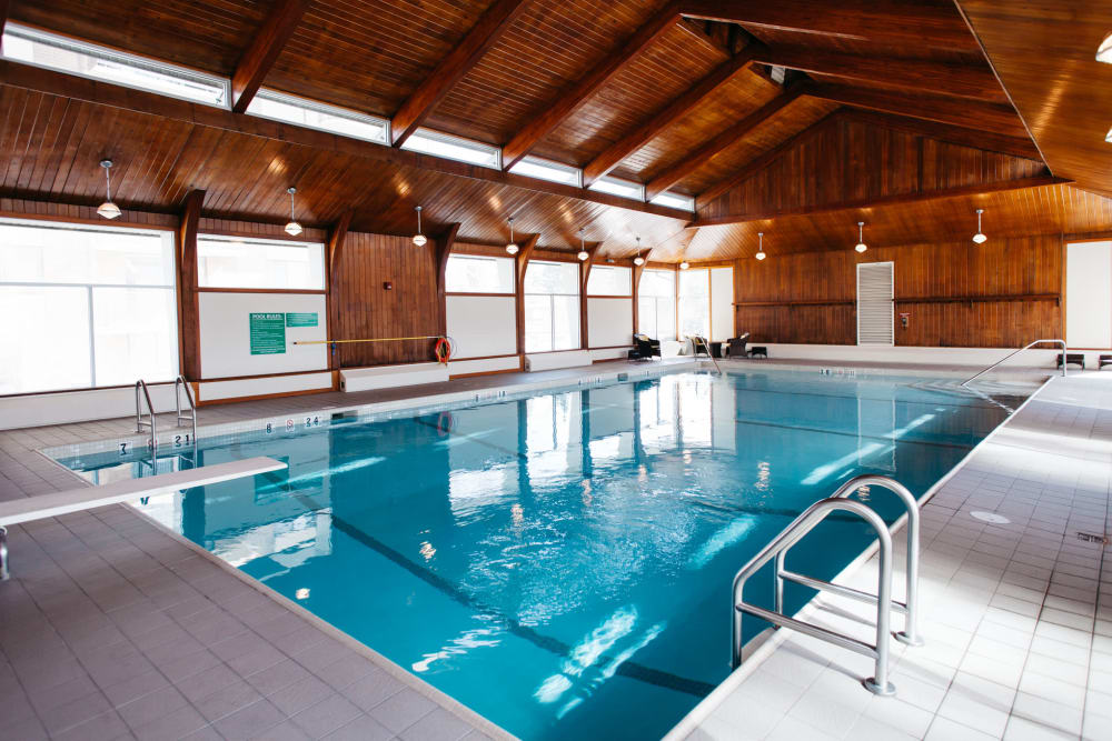 Beautiful swimming pool at Elata in Calgary, Alberta