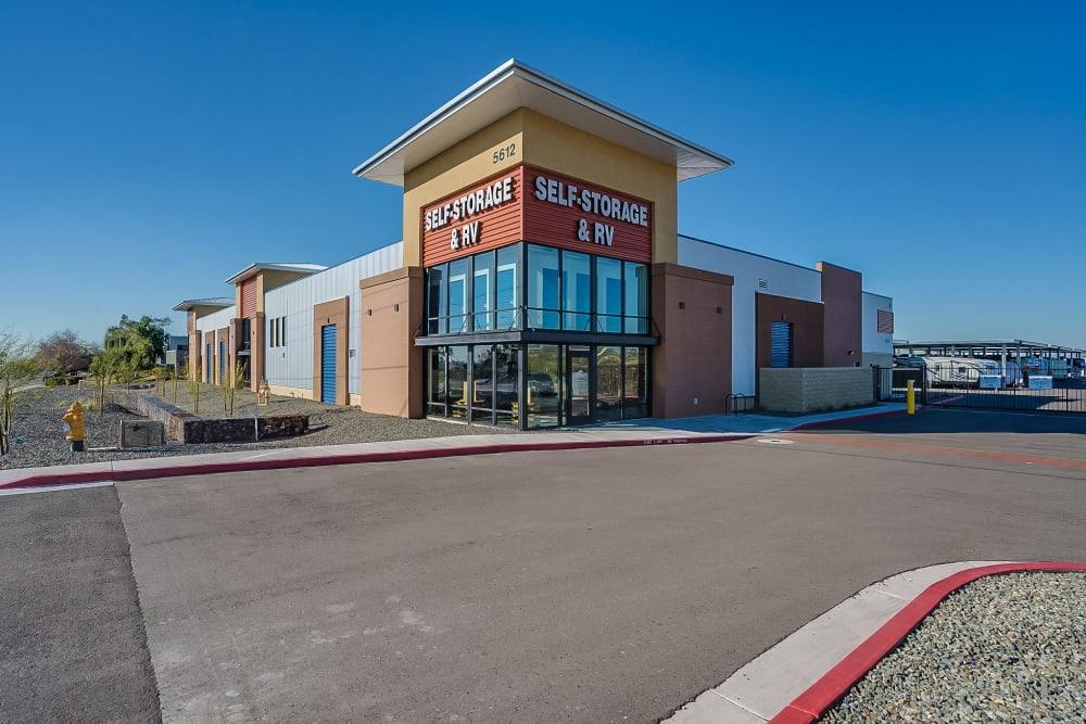 Location entry at Red Mountain Self Storage & RV in Mesa, Arizona.