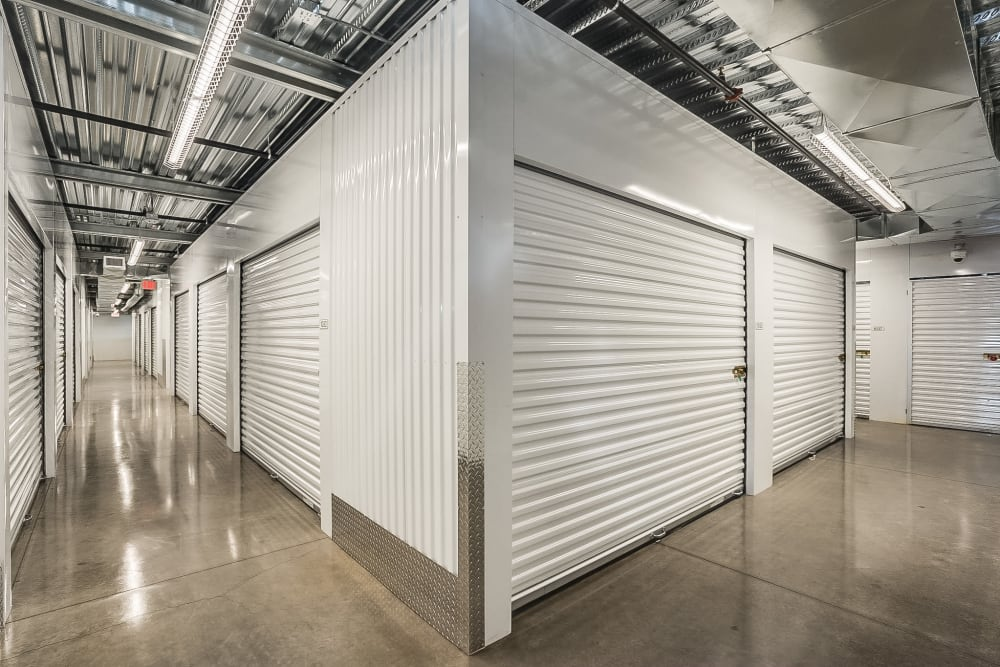 Indoor storage units at 180 Self-Storage in Gilbert, Arizona