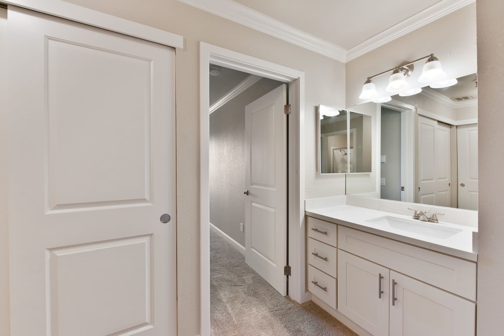Tower Apartment Homes in Alameda, California offers a bathroom