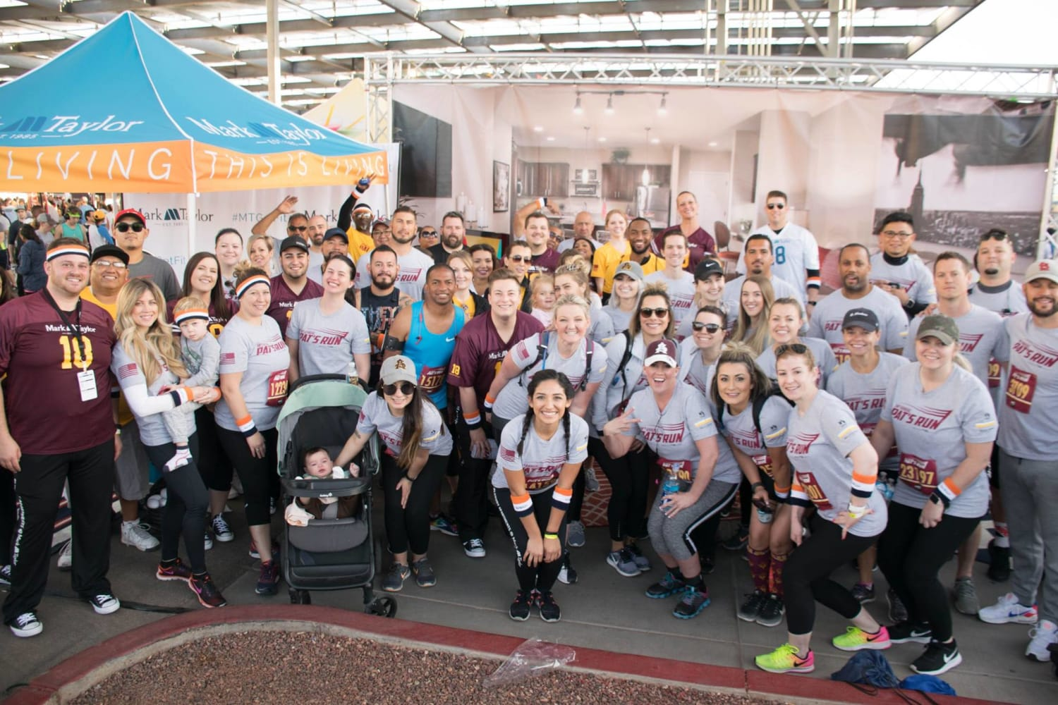 Mark-Taylor employees participating in Pat's Run