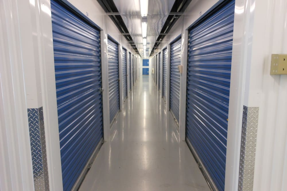 Interior storage units at Compass Self Storage in Ponte Vedra Beach, FL