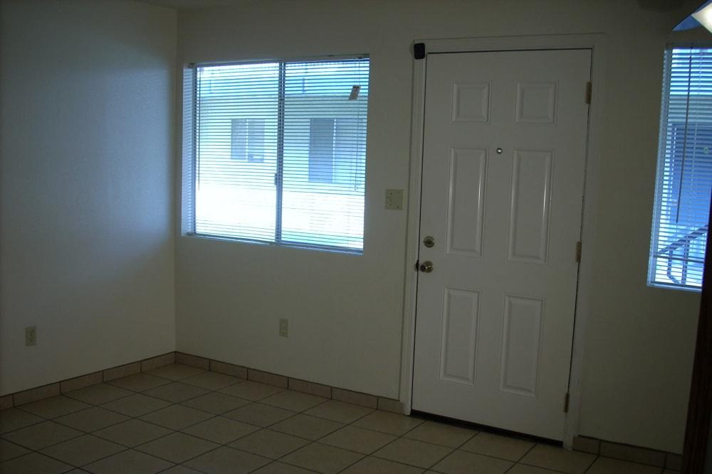 Model unit entry at El Potrero Apartments in Bakersfield, California
