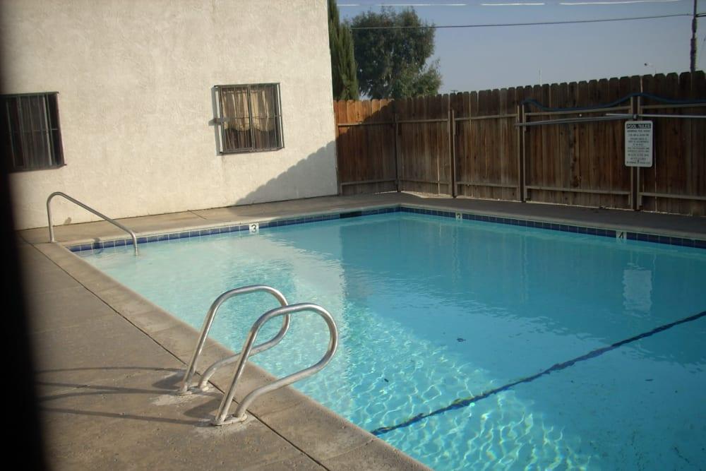 Swimming pool at El Potrero Apartments in Bakersfield, California