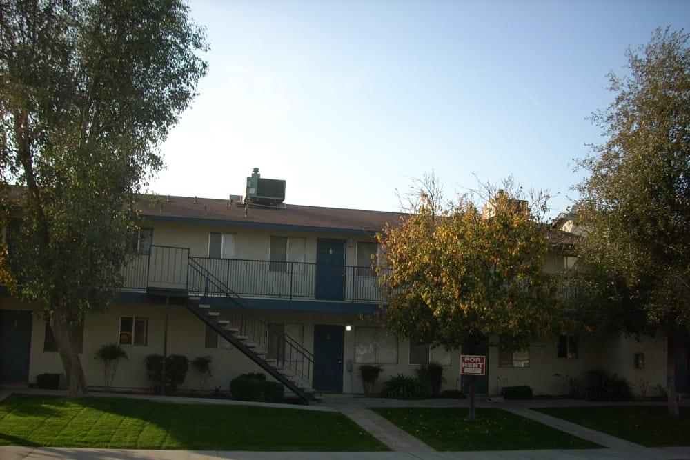 View of the housing at El Potrero Apartments in Bakersfield, California
