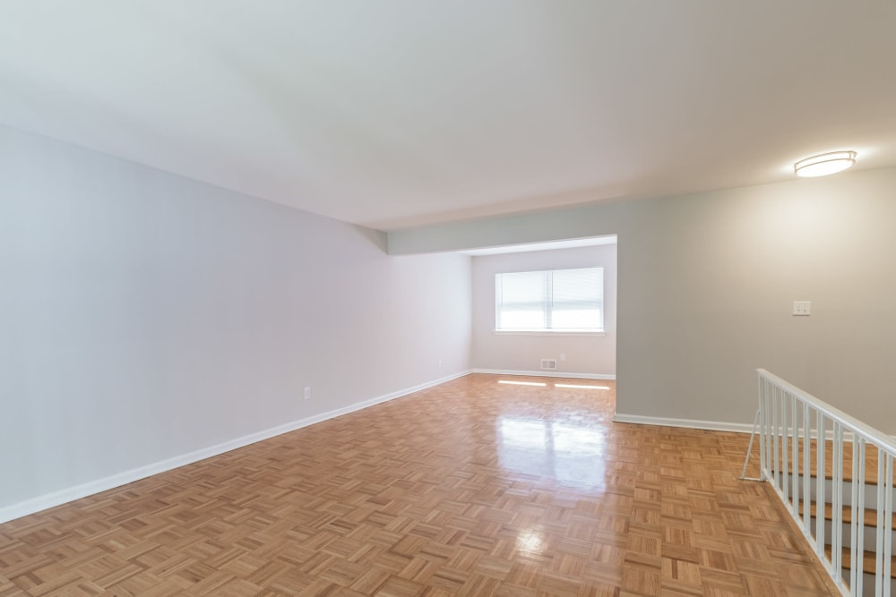 Shining wood floors at Eagle Rock Apartments at North Plainfield in North Plainfield, New Jersey