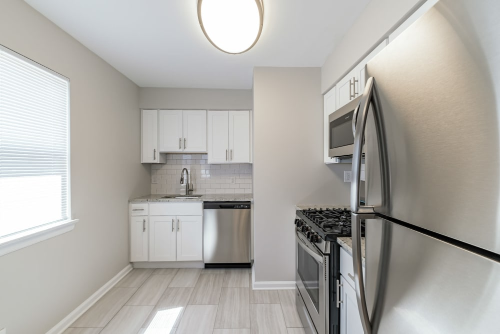 Kitchen at Eagle Rock Apartments at North Plainfield in North Plainfield, New Jersey