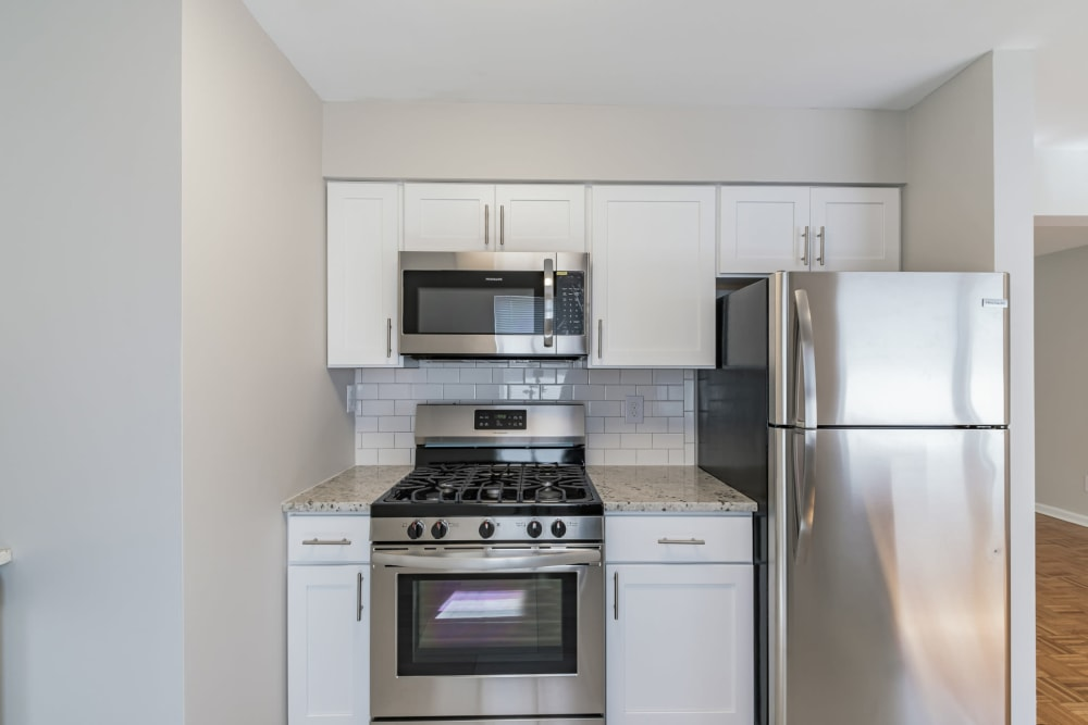 Beautiful kitchen at Eagle Rock Apartments at North Plainfield in North Plainfield, New Jersey