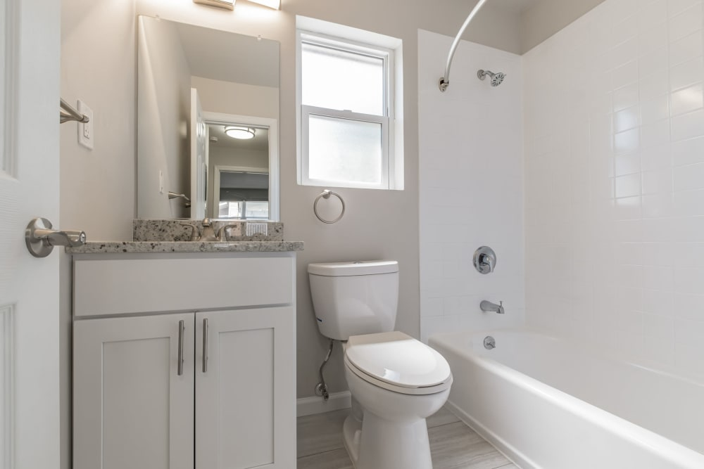 Bathroom at Eagle Rock Apartments at North Plainfield in North Plainfield, New Jersey