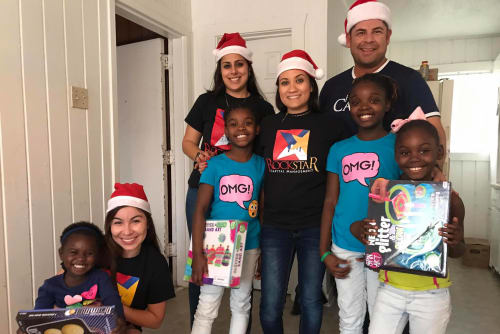 Midtown Grove Apartments staff helping local families
