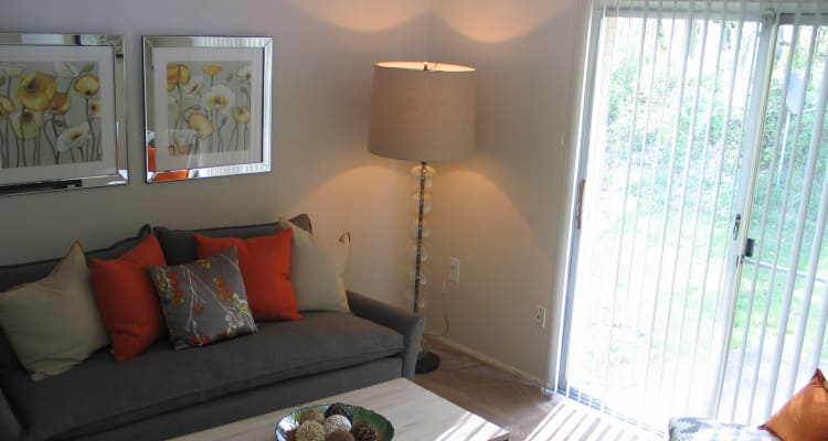 Beautiful living room at Fontana Village in Rosedale, MD
