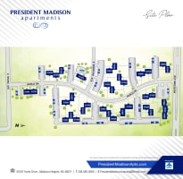 Site map for President Madison Apartments in Madison Heights, Michigan