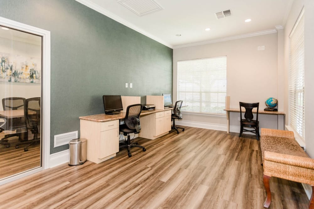 Enjoy apartments with a quiet computer lab at Willow Lake Apartments