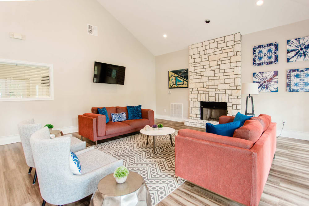 Enjoy a luxury living room at Willow Lake Apartments