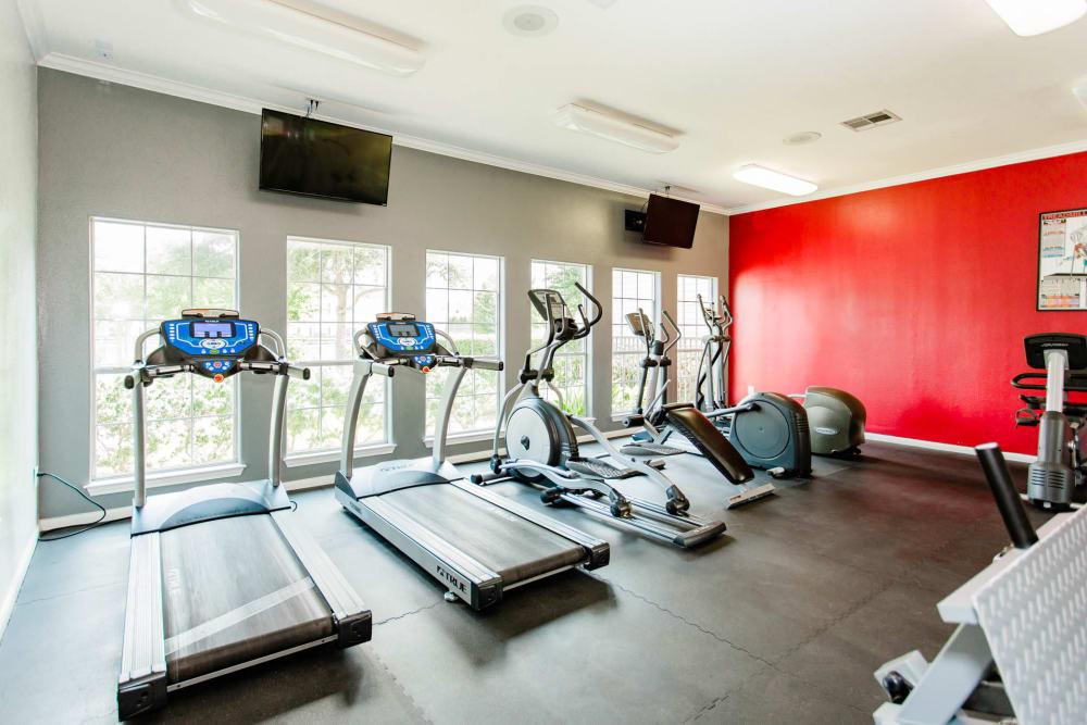 Our apartments in Katy, Texas showcase a spacious fitness center