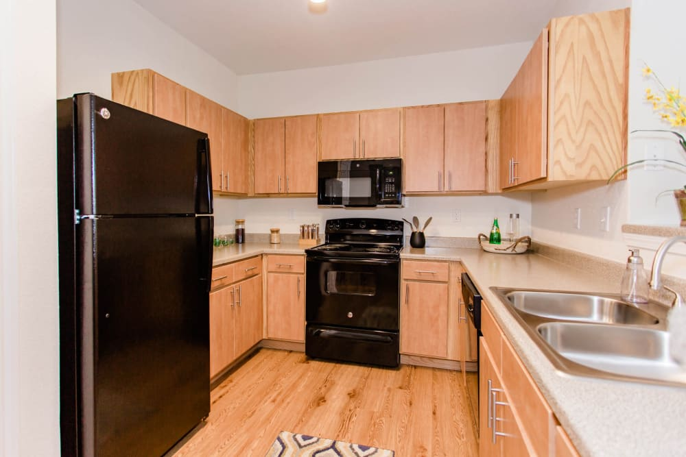 Enjoy apartments with a modern kitchen at Willow Lake Apartments