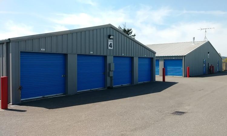 Glacier West Self Storage features exterior storage units in Arlington, Washington