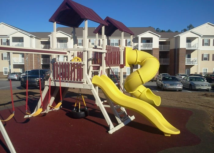 Playground area at Autumn View Apartments in Fayetteville, North Carolina