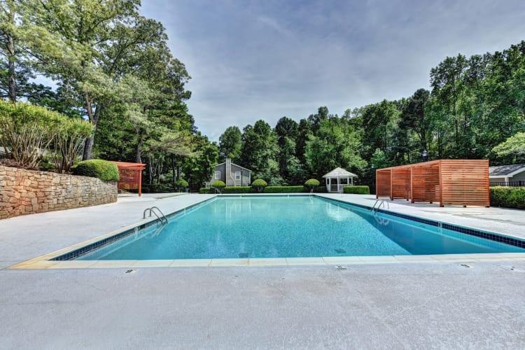 Beautiful swimming pool at Fields at Peachtree Corners in Norcross, Georgia