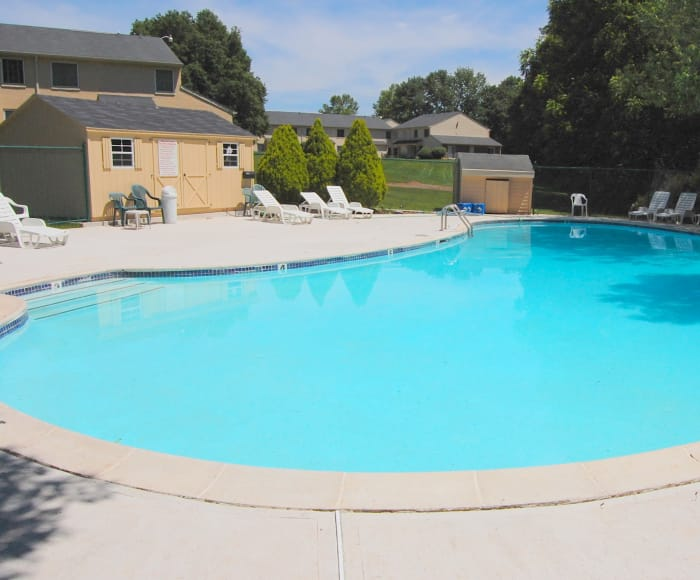 Montgomery Woods Townhomes offers a pool in Harleysville, PA