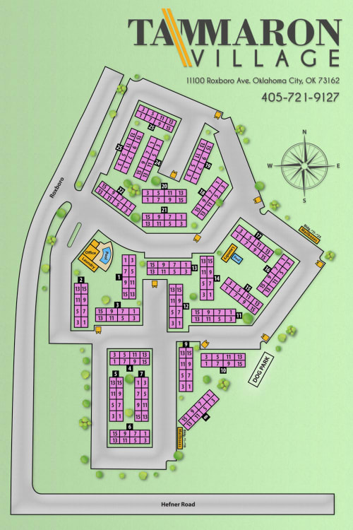 Site map for Tammaron Village Apartments in Oklahoma City, Oklahoma