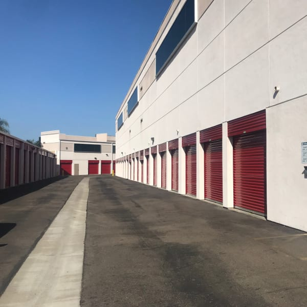 Outdoor units at StorQuest Self Storage in Carlsbad, California