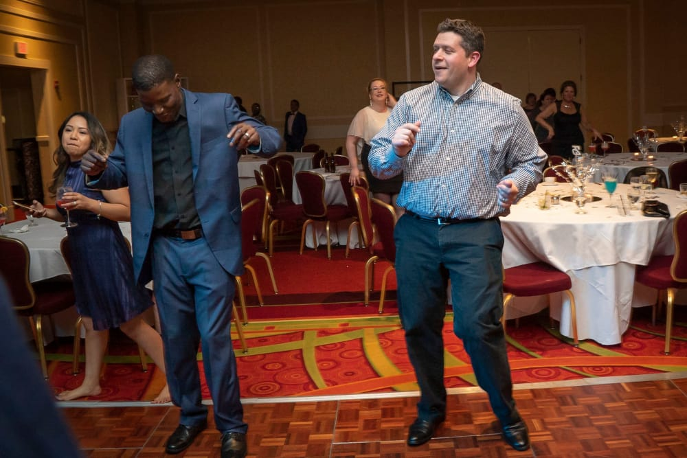 CAPREIT employees dancing at a recent conference